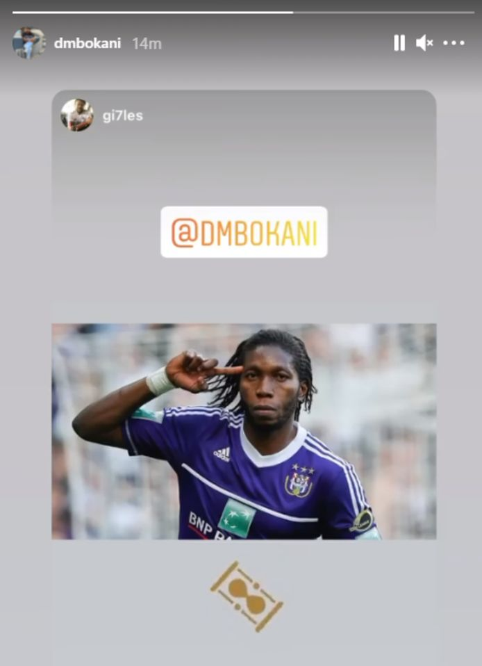 Mbokani hint op z'n Instagram Stories naar een terugkeer bij Anderlecht