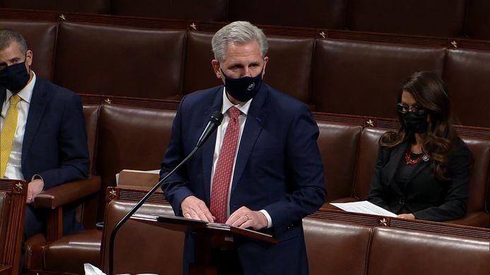 Kevin McCarthy, leider van de Republikeinen in het Huis van Afgevaardigden