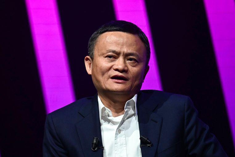 Jack Ma, topman van het Chinese webwinkelconcern Alibaba, eerder dit jaar in Parijs. Beeld AFP