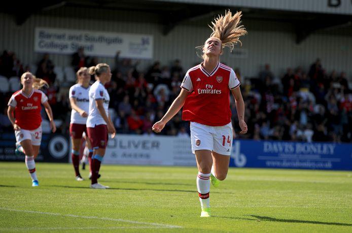 Jill Roord is goed begonnen bij haar nieuw club Arsenal.