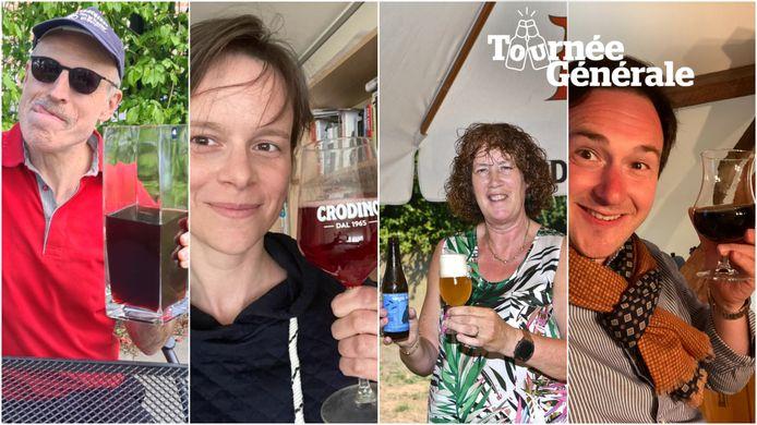 Karel Declercq, Ann De Craemer, Belinda Eelbode en Francesco Vanderjeugd zien de heropening van de horeca alvast zitten!