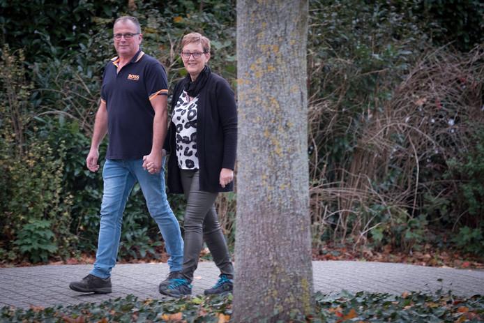 Wilco en Ingrid Wittenberg van succesvolle wandelingen.