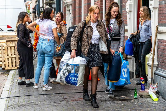 Studenten in Utrecht, ter illustratie.