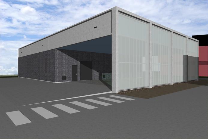 Een impressie van het nieuw te bouwen complex bij het station in Oss.