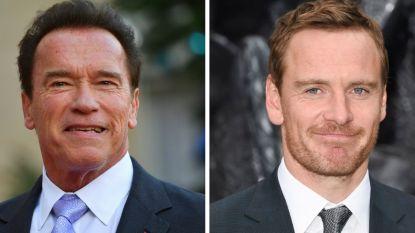 Arnold Schwarzenegger en Michael Fassbender brengen ode aan de eighties