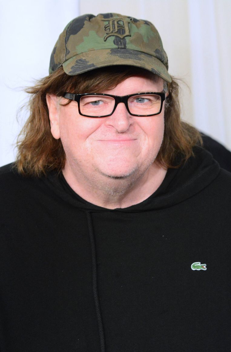 Oscarwinnend documentairemaker Michael Moore Beeld Photo News