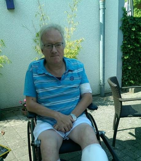 Door rottweilers aangevallen Joop uit Tilburg na twee maanden thuis: 'Wandelen lukt nog lang niet'