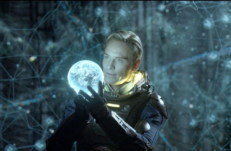 Michael Fassbender in Prometheus. Beeld