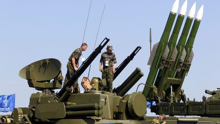 Een Russische BUK-raketinstallatie. Beeld epa