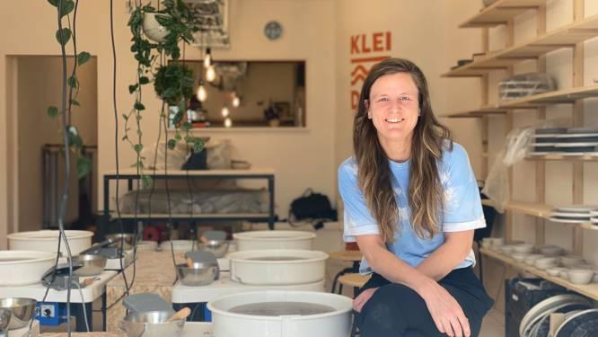 """Tussen pot en pint. Emmanuelle (36) lanceert keramieklessen speciaal voor mannen: """"Het bier staat koud"""""""