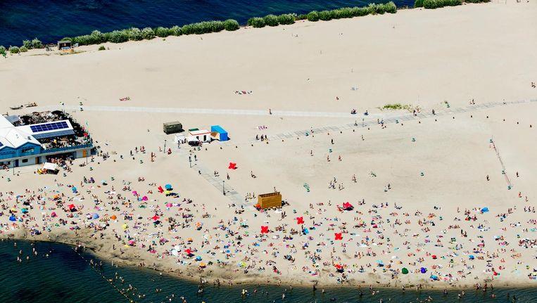 Strandpaviljoen Blijburg moet plaatsmaken voor woningbouw op het nieuwe Strandeiland. Beeld anp