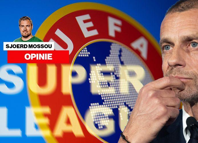 Super League en UEFA, komt dat nog goed? Rechts Aleksander Ceferin.