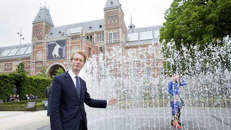 Taco Dibbits, vanaf 15 juli directeur van het Rijksmuseum: 'Ik fietste als jongetje door het Rijks door en dacht: hier wil ik werken.' Beeld ANP