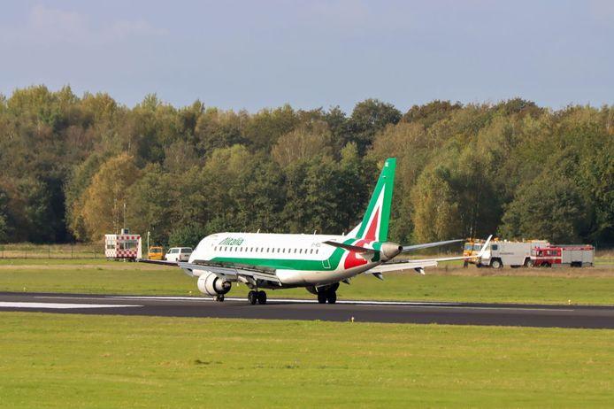 Een van de vliegtuigen die vandaag in Twente zijn geland.