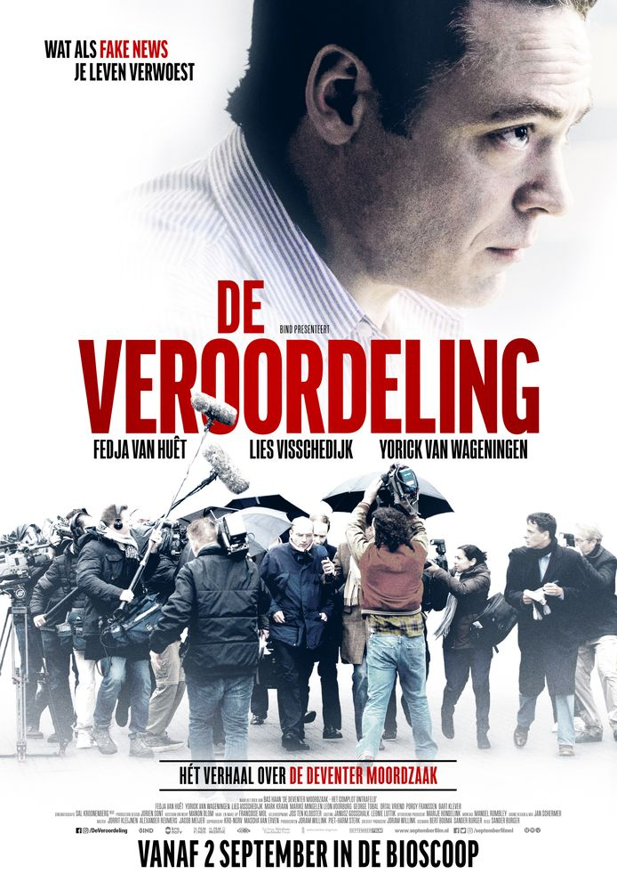 Film De Veroordeling (2020) gaat over de Deventer moordzaak. Poster