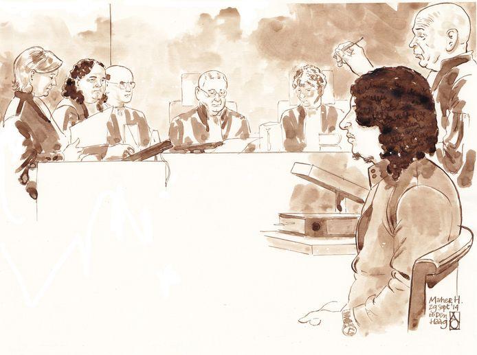 Maher H. in september in de rechtbank.