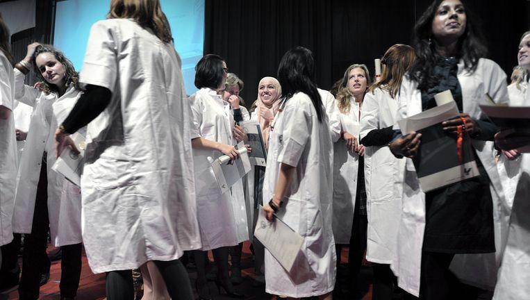 Studenten geneeskunde. © Joost van den Broek/de Volkskrant Beeld