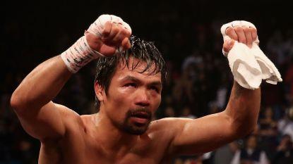 Manny Pacquiao behoudt WBA-titel bij weltergewichten en daagt Mayweather uit voor rematch