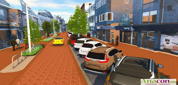 De nieuwe Molenstraat in Haaksbergen.
