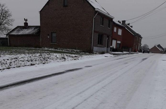 Zo zag de Overstraat uit bij de laatste sneeuwval.