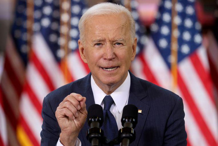 Archiefbeeld. De Amerikaanse president Joe Biden. (31/03/2021) Beeld REUTERS