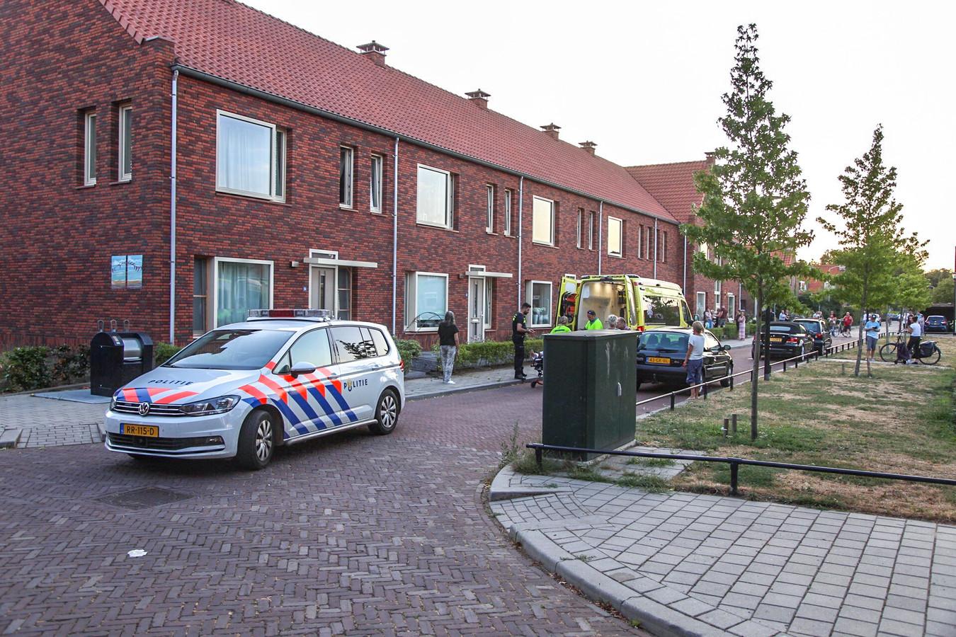 Hulpdiensten bij het ongeval in Doesburg.
