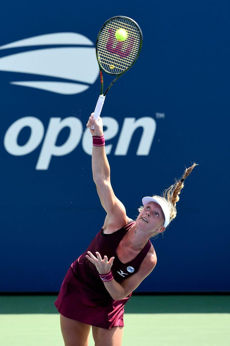 Kiki Bertens mijdt de open Amerikaanse tenniskampioenschappen uit vrees dat de strenge regels haar voorbereiding op de graveltoernooien zal verstoren. Beeld Getty Images
