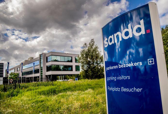 Het voormalige hoofdkantoor van Sandd in Apeldoorn. Foto archief