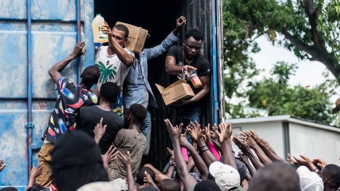 Wanhopige Haïtianen bestormen hulpkonvooi