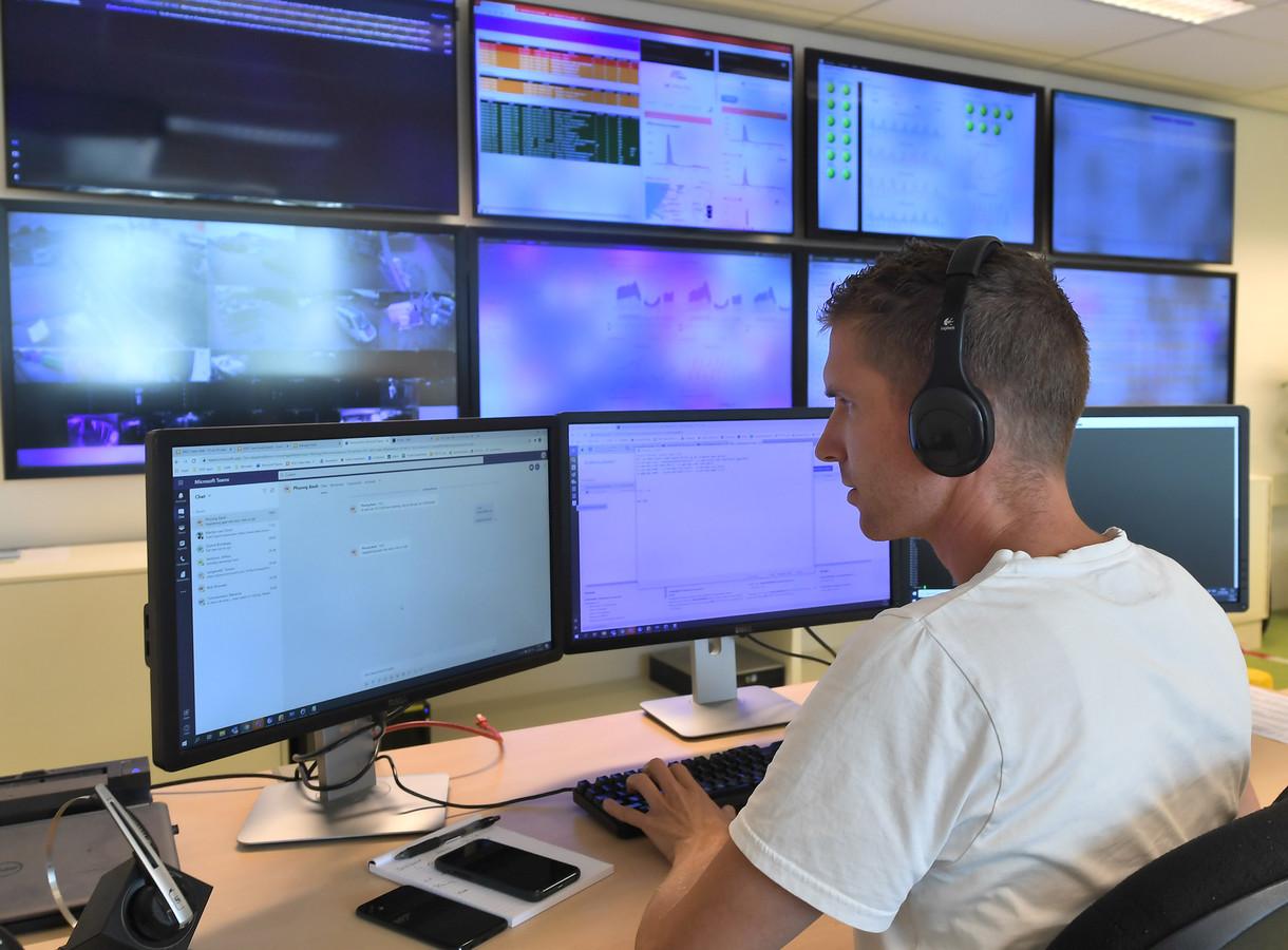Controlekamer van DELTA Fiber Nederland.