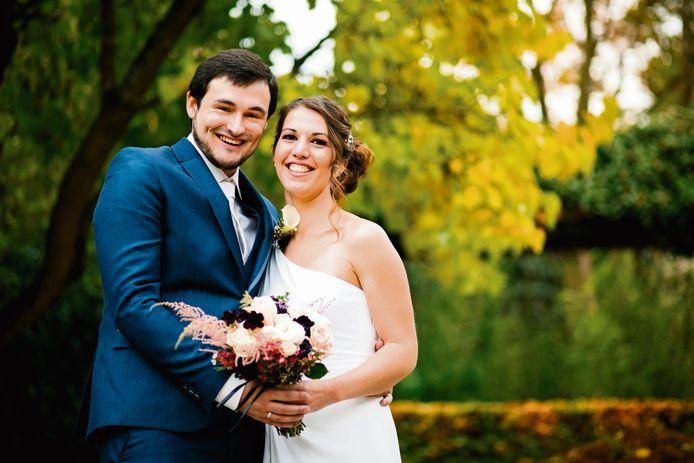Nicolas en Evelien trouwden drie jaar geleden dankzij 'Blind Getrouwd'.