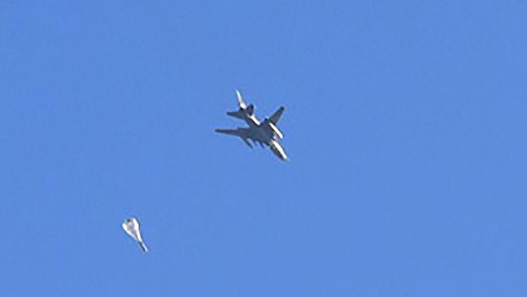 Gevechtsvliegtuigen van de Syrische regering