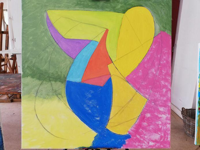 Geometrische dans, een werk van Ger, cursist bij Beeldkracht