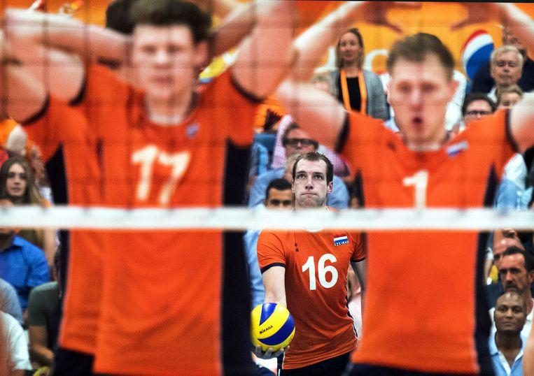 Het Nederlandse team plaatst zich voor het EK in Polen in 2017. Beeld Klaas Jan van der Weij