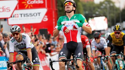 Viviani vervolledigt hattrick in Madrid. De Gendt en Yates schrijven geschiedenis in Vuelta
