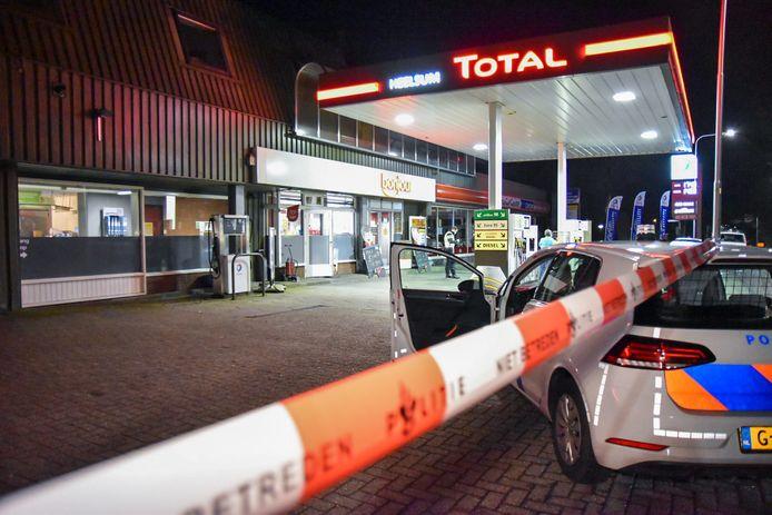 Het Total-tankstation aan de Bennekomseweg in Heelsum is zaterdagavond overvallen.