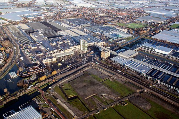 Het terrein van Royal FloraHolland in Naaldwijk.