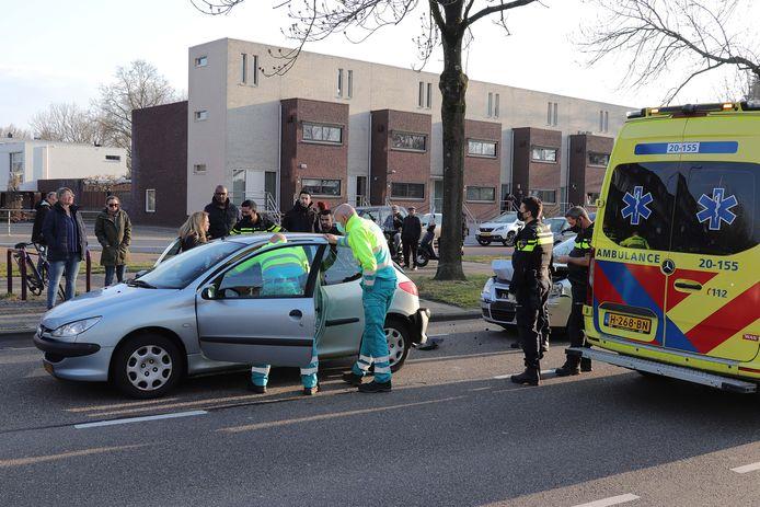 Kop-staartbotsing in Waalwijk.