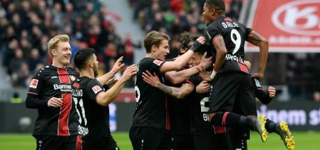 Late treffers Frankfurt houden winnend Leverkusen van vijfde plek