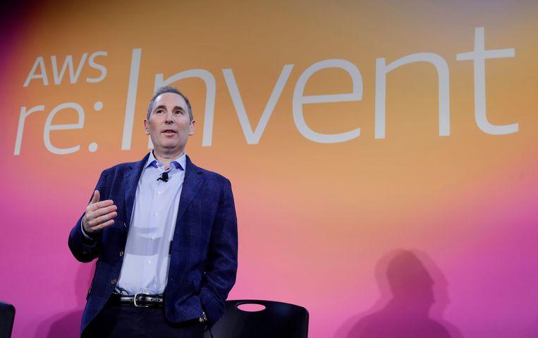 Andy Jassy, die Jeff Bezos later dit jaar opvolgt als baas van Amazon, in 2019. Beeld AP