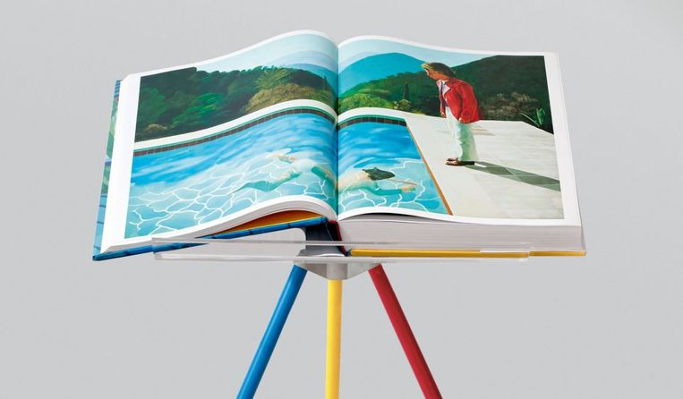 'Portrait of an Artist (Pool with Two Figures)' uit 1972 in 'A Bigger Book'. Beeld RV/Taschen