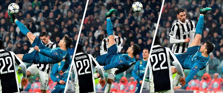 64': Cristiano Ronaldo pakt uit met een enig mooie treffer. Met een fantastische omhaal legde hij de 0-2 in het net.