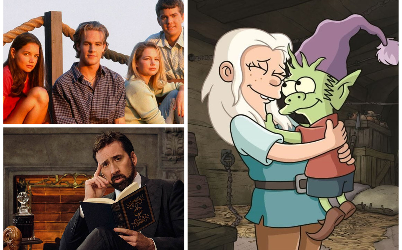 'Dawson's Creek', 'History of Swear Words' en 'Disenchantment' Beeld Netflix