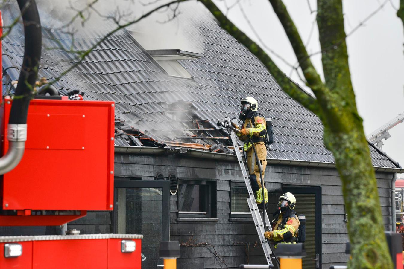 Brand in Prinsenbeek.