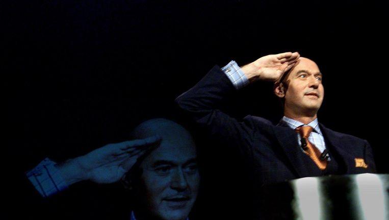 Pim Fortuyn op het congres van Leefbaar Nederland, 25 november 2001. Beeld anp