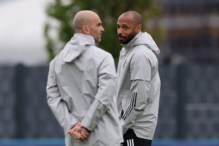 Henry heeft een Barça-verleden, Martínez heeft nu nog goede banden binnen de club. Beeld AFP