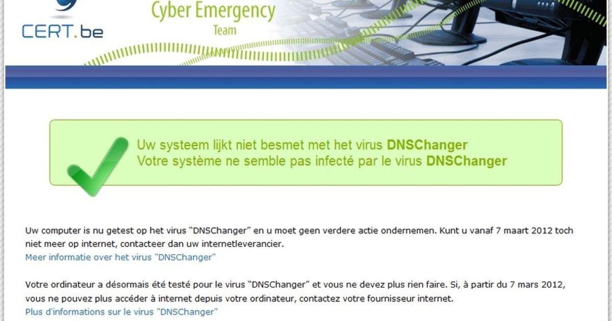 ab24689f025 Meer dan duizend infecties DNS changer in België   Internet   iHLN   HLN