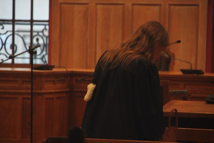 De rechtszaal in het Kortrijkse gerechtsgebouw.