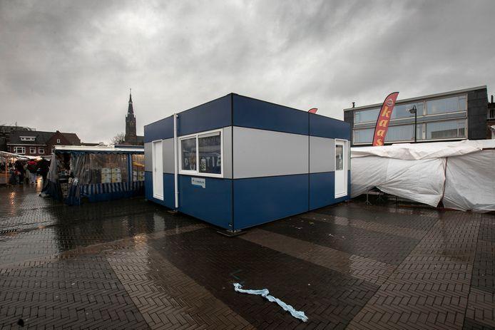 Eindhoven pop-up politiebureau op de Woenselse Markt