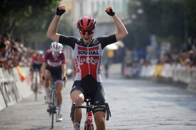 Kopecky wint de zevende etappe van de Giro Rossa dit jaar. Beeld Photo News